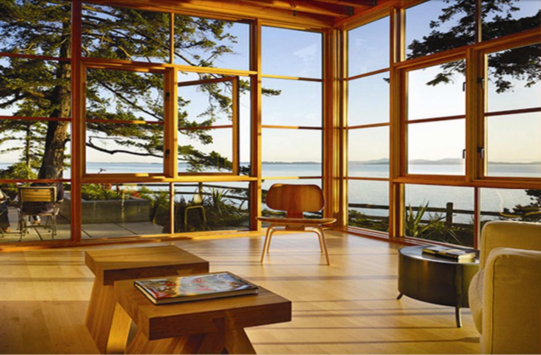 gyönyörű fa ablak