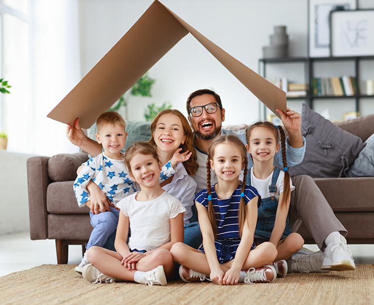 család az otthonban